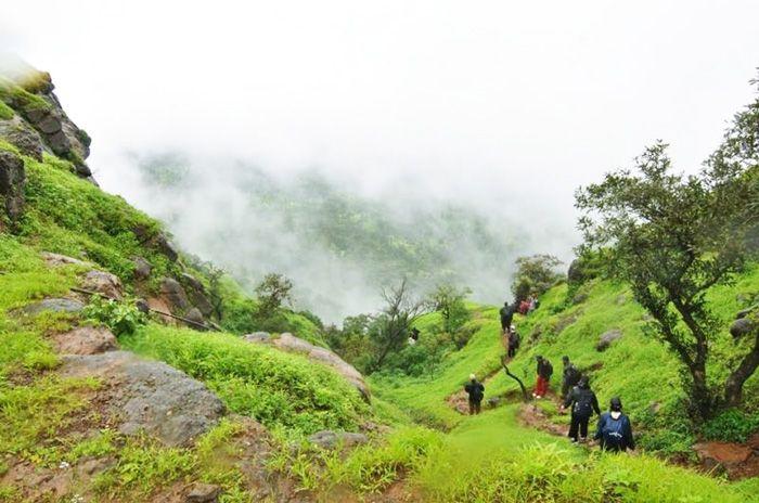 trekking in maharashtra in monsoon
