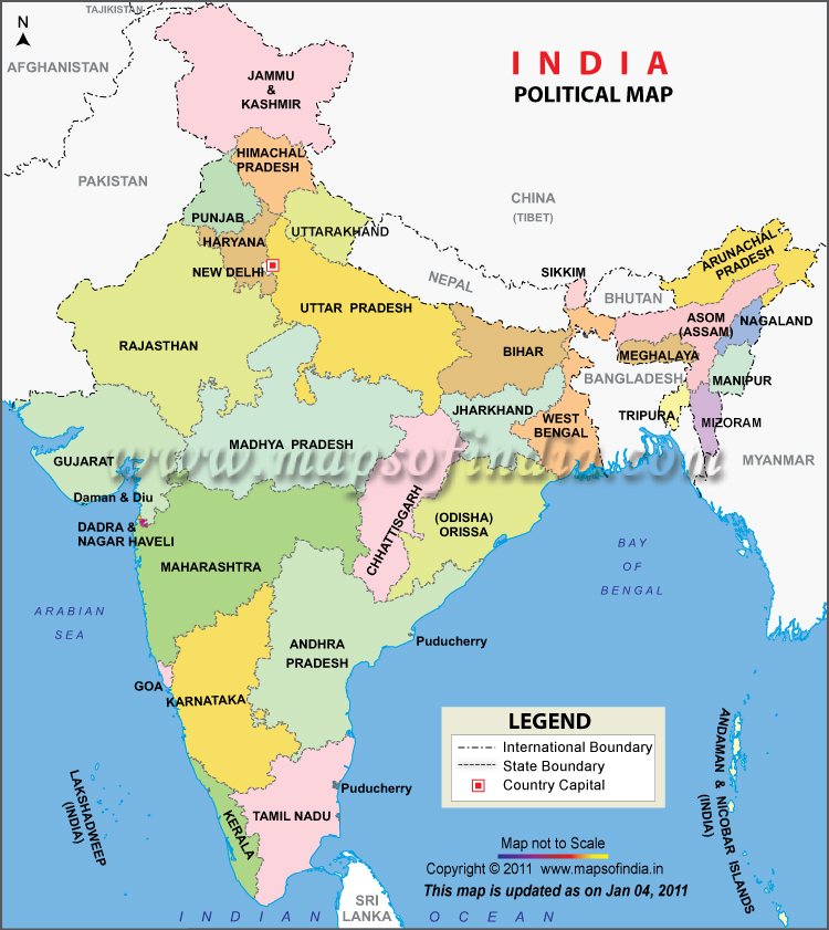 Map India Tourist Places – India Tourist Attractions Map