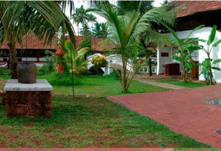 Garden in Coconut Lagoon In Kumarakom