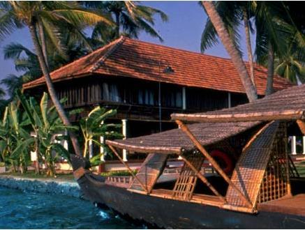 Resort Lake in Coconut Lagoon In Kumarakom
