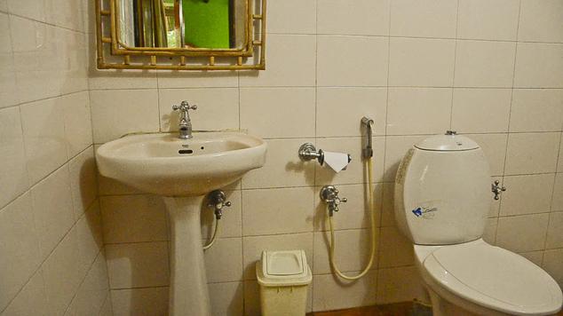 Bathroom in Coir Village, Alleppey