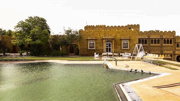 Swimming in Hotel Himmatgarh Palace