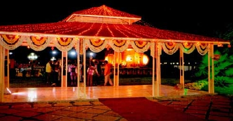 Reception tent in Hotel Ashray