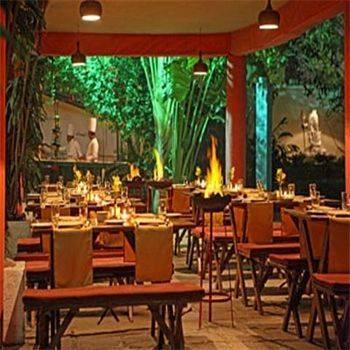 Dining in Hotel Clarks, Varanasi