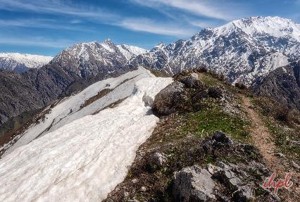 Greater Chimgan Mountain in Uzbekistan