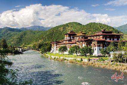 Punakha Dzong Buddhist temple in Bhutan