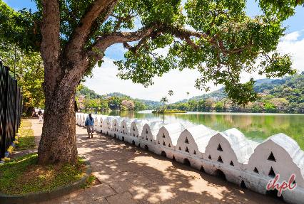 Kandy Lake in Sri Lanka