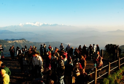 Tiger hill at Darjeeling