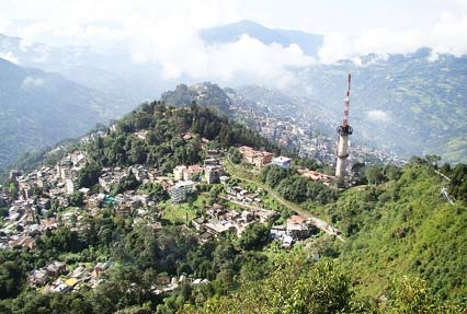 View of gangtok