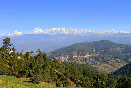 Kausani Hill Station in Uttarakhand