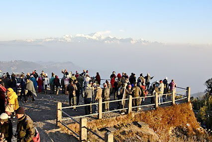 Tiger Hill in Darjeeling