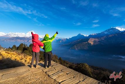 Ghorepani Village in Nepal