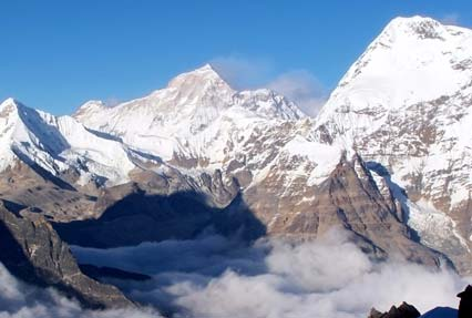 Gangkar puensum, the highest peak in Bhutan