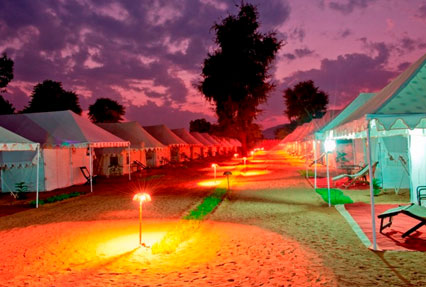 camping in pushkar rajasthan