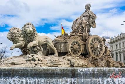 Paseo del Prado in Madrid, Spain