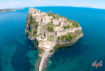 Aragonese Castle Medieval Ischia Porto, Italy