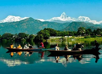 Pokhara City in Nepal