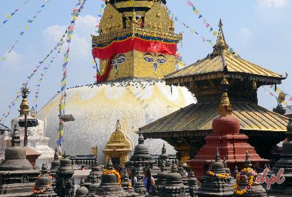 Swayambhunath tample in Nepal