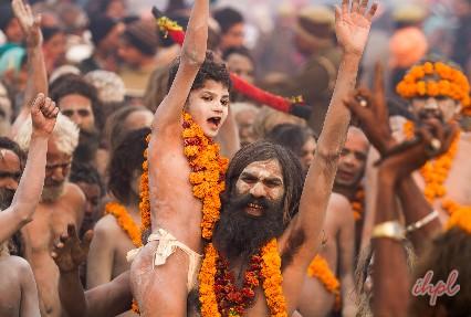 Naga sadhus at Kumbha mela