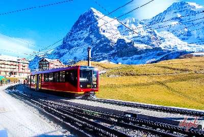 top of the world jungfrau mountain