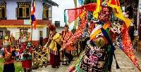 Drupka teshi festival, Sikkim in India
