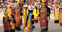 Nongkrem dance festival in Khasi Hills, Meghalaya
