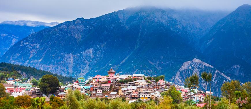 Kinnaur town in Himachal Pradesh