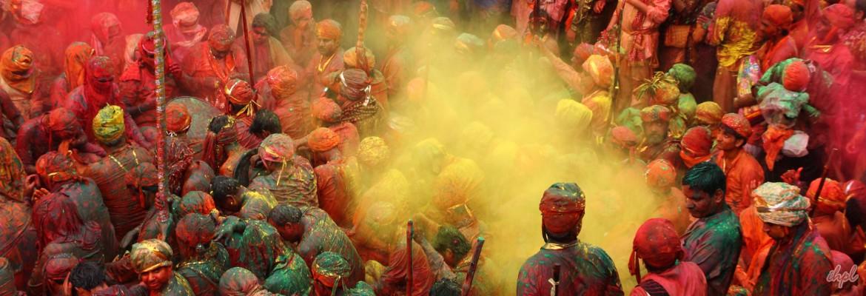 Holi celebration in Gokul